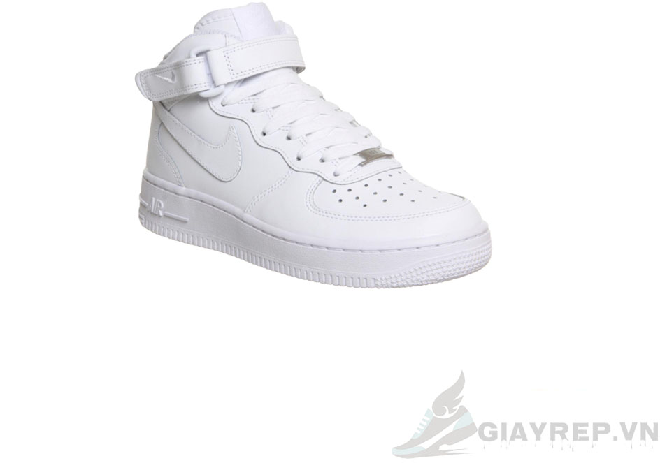 Giày Nike Air Force Mid Full Trắng Cổ Cao 4