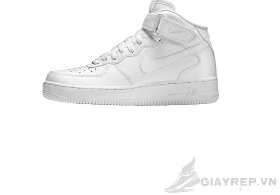 Giày Nike Air Force Mid Full Trắng Cổ Cao 5