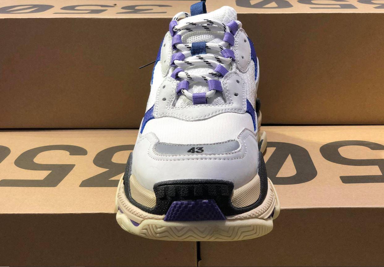 Balenciaga Triple S Purple White Grey replica 1:1, Balenciaga Triple S Purple White Grey Replica, Balenciaga Triple S Purple White Grey Rep 11, Balenciaga Triple S Tím Trắng và Xám