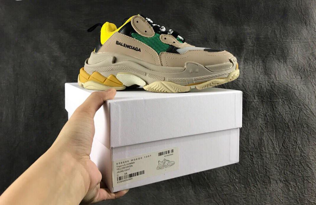 Balenciaga Triple S Yellow Green Vàng Xanh 7