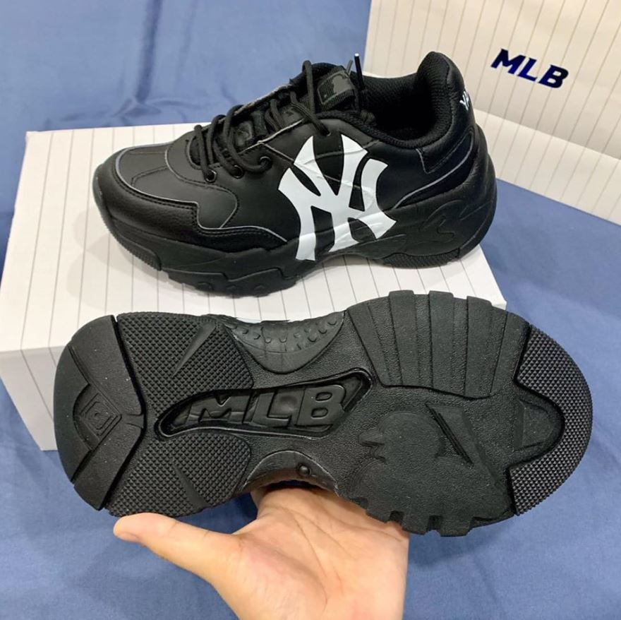 MLB Korea New York Yankees Black Big Ball Chunky A Full Đen, MLB FULL đen