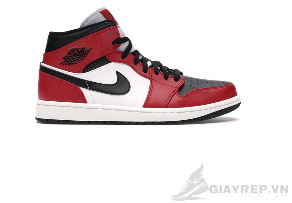 Giày Nike Air Jordan 1 Mid Chicago Toe 1