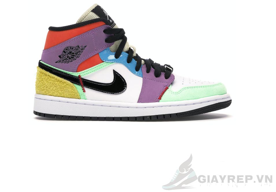 Giày Nike Air Jordan 1 Mid SE Multi Color 1