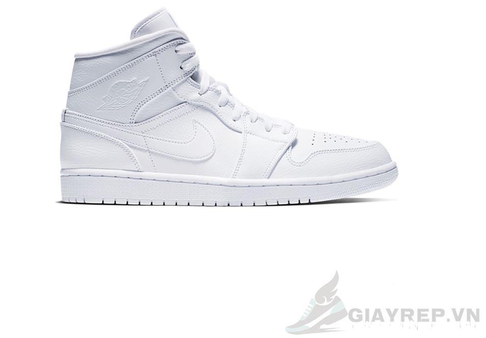 Giày Nike Air Jordan 1 Mid Triple White 2