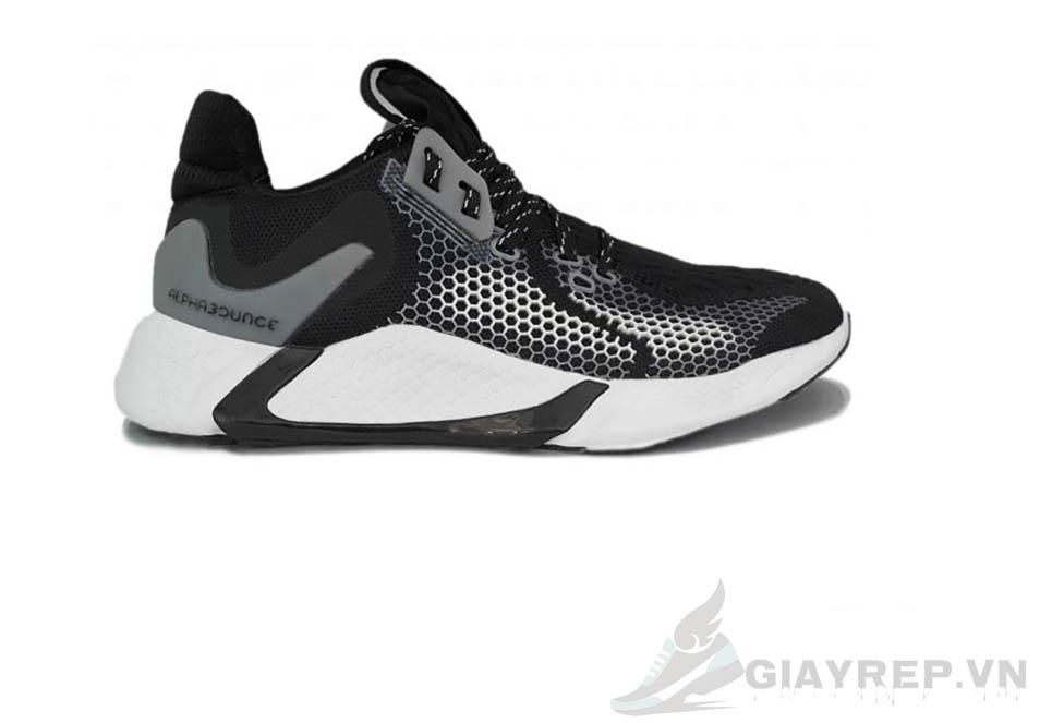 Giày Adidas Alphabounce Instinct M Core Đen Trắng 1